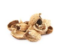 Mucchio delle coperture dell'arachide isolate Fotografie Stock