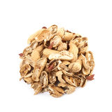 Mucchio delle coperture dell'arachide isolate Immagine Stock Libera da Diritti