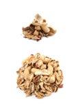 Mucchio delle coperture dell'arachide isolate Fotografia Stock Libera da Diritti
