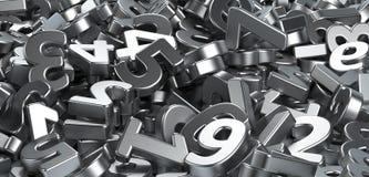 Mucchio delle figure numeri metalliche Immagine Stock Libera da Diritti
