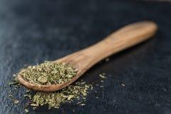 Mucchio delle foglie secche di stevia Fotografie Stock