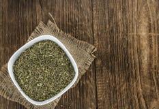 Mucchio delle foglie secche di stevia Fotografia Stock