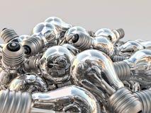 Mucchio delle lampadine incandescenti Fotografia Stock