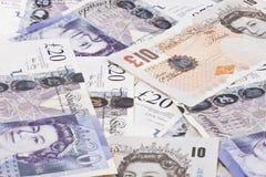 Mucchio delle libbre britanniche dei soldi Fotografia Stock Libera da Diritti