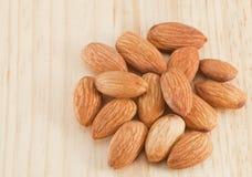 Mucchio delle mandorle nuts Fotografia Stock