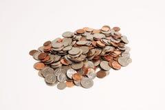 Mucchio delle monete Fotografie Stock