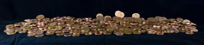 Mucchio delle monete del Euro-centesimo Fotografia Stock Libera da Diritti