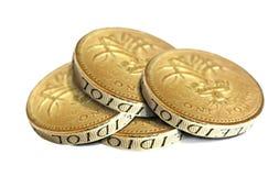 Mucchio delle monete di oro Fotografie Stock