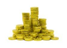 Mucchio delle monete di oro Fotografia Stock Libera da Diritti