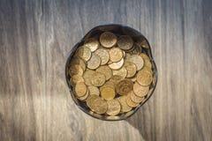 Mucchio delle monete di rame immagini stock