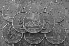 Mucchio delle monete di U.S.A. Fotografia Stock Libera da Diritti
