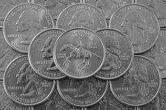 Mucchio delle monete di U.S.A. Fotografia Stock
