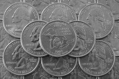 Mucchio delle monete di U.S.A. Immagini Stock