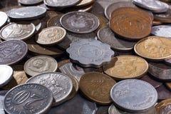 Mucchio delle monete (fuoco selettivo usato) Fotografia Stock Libera da Diritti