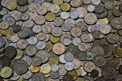 Mucchio delle monete malesi fotografia stock