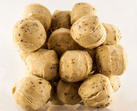 Mucchio delle palle dello strutto con i vermi della farina Immagine Stock Libera da Diritti