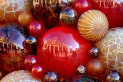 Mucchio delle palle di natale Fotografia Stock