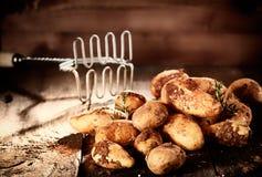 Mucchio delle patate terrose fresche Fotografia Stock Libera da Diritti
