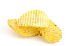 Mucchio delle patatine fritte Fotografia Stock Libera da Diritti