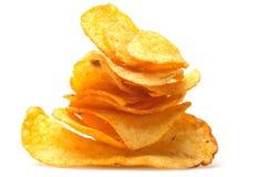 Mucchio delle patatine fritte Immagine Stock