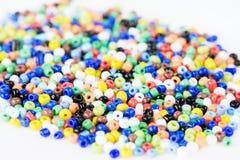 Mucchio delle perle colorate multi Fotografie Stock