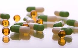 Mucchio delle pillole Fotografia Stock Libera da Diritti