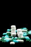Mucchio delle pillole e delle compresse Fotografia Stock