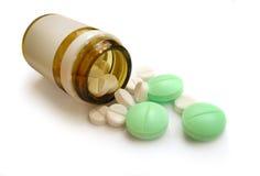 Mucchio delle pillole, flack. Medico, fotografia stock libera da diritti