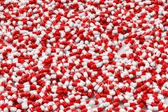Mucchio delle pillole, illustrazione 3D Immagini Stock