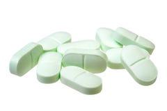 Mucchio delle pillole isolate su fondo bianco Fotografia Stock Libera da Diritti
