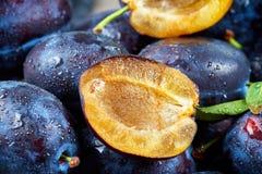 Mucchio delle prugne fresche Fotografia Stock Libera da Diritti