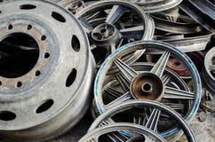 Mucchio delle ruote utilizzate Immagini Stock