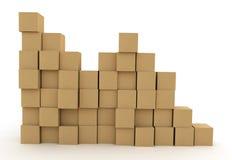 Mucchio delle scatole di cartone Fotografie Stock Libere da Diritti
