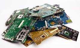 Mucchio delle schede di madre dei computer portatili Fotografie Stock