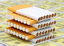 Mucchio delle sigarette Fotografia Stock Libera da Diritti