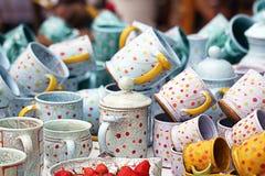 Mucchio delle tazze Fotografia Stock