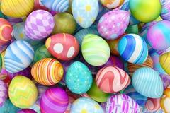 Mucchio delle uova di Pasqua variopinte Immagini Stock Libere da Diritti