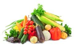 Mucchio delle verdure su bianco Immagini Stock Libere da Diritti