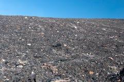 Mucchio dello spreco della miniera di carbone fotografia stock