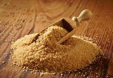 Mucchio dello zucchero bruno Fotografia Stock
