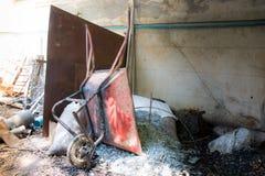 Mucchio di alluminio e del carrello Immagini Stock Libere da Diritti