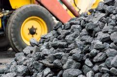 Mucchio di carbone Fotografie Stock