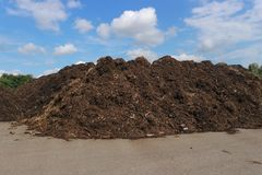 Mucchio di compostaggio immagini stock