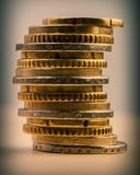 Mucchio di euro centesimi Euro soldi Immagine Stock