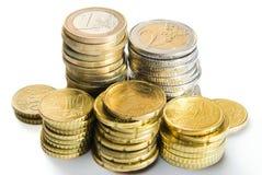 Mucchio di euro monete Immagine Stock Libera da Diritti
