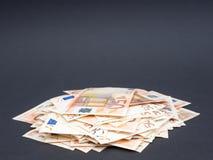Mucchio di euro soldi fotografia stock libera da diritti