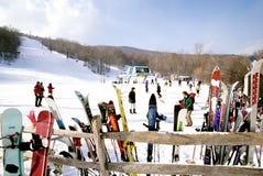 Mucchio di fieno Ski Resort fotografie stock libere da diritti