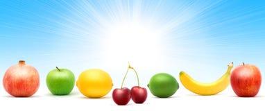 Mucchio di frutta Immagini Stock Libere da Diritti