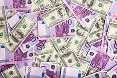 Mucchio di immagine delle banconote Immagine Stock