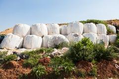 Mucchio di immondizia domestica in materiale di riporto Fotografie Stock Libere da Diritti